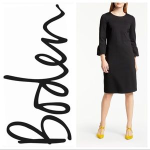 Boden Lavinia Ponte Knit Bell Sleeve Dress 10